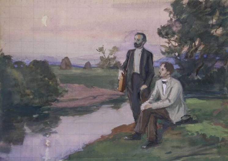 Чехов и Левитан. Автор: С.С. Боим