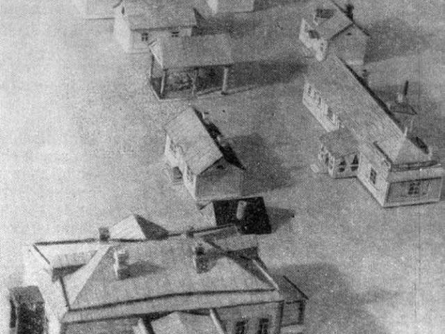 Макет, выполненный Михаилом Павловичем Чеховым в 1934 году по памяти. <br> Дом-музей А. П. Чехова в Москве.