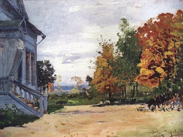 Картина Левитана с изображением Бабкино из собрания мелиховского музея.