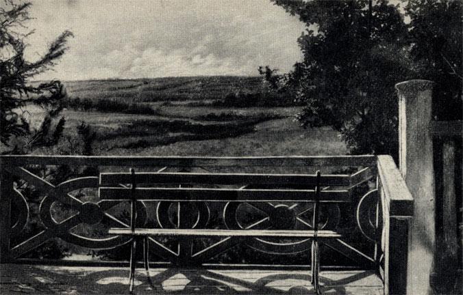 Бабкино. 'Вид с висячего балкона'. С рисунка М. Я. Чехова